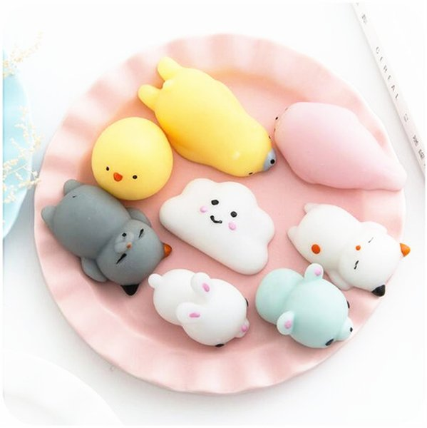 Animaux drôles Squishy Toys Bébé Jouets éducatifs nouveauté Kawaii Ours Canard Porc Cat Squeezes Décompression enfants Jouets Squishies Stress Reliever