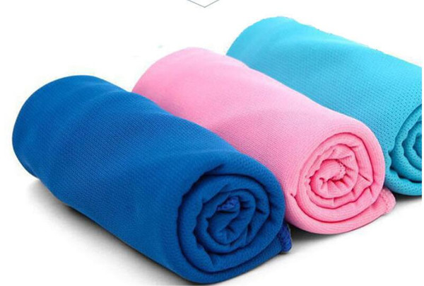 Color Magic Cold Towel Exercise Fitness Sweat Summer Ice Towel Outdoor Sports Ice Cool Towel Hypothermia 90x35cm Cooling Towels 1000Pcs