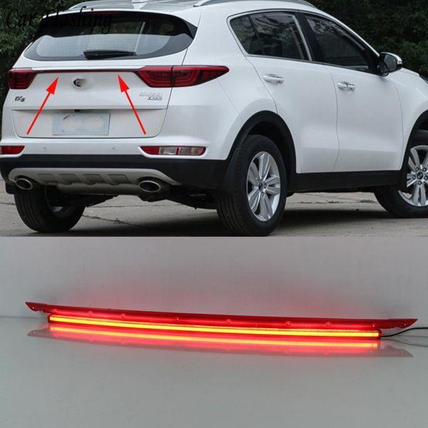 Parpadeante del coche 1set LED luces de parachoques trasero luz de freno luces traseras luces de advertencia reflector corriendo luz diurna DRL Para kia KX5 2016