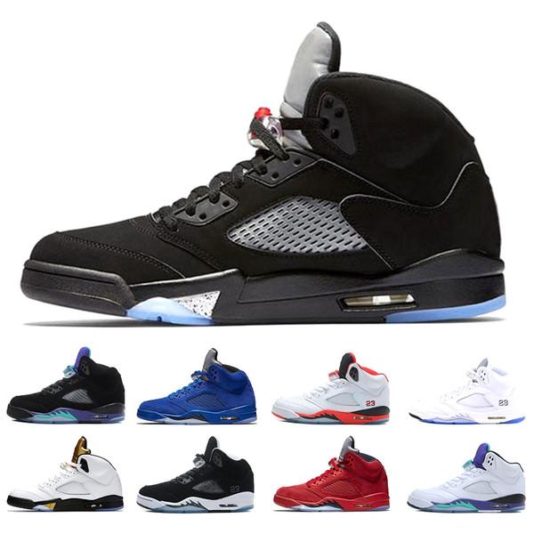 Retro Air Jordan 5 5s Nike AJ5 Nouvelle arrivée 5 5 s hommes chaussures de basket-ball INTERNATIONAL VOL Costume de vol blanc ciment noir hommes raisin concepteur sport sneaker livraison gratuite