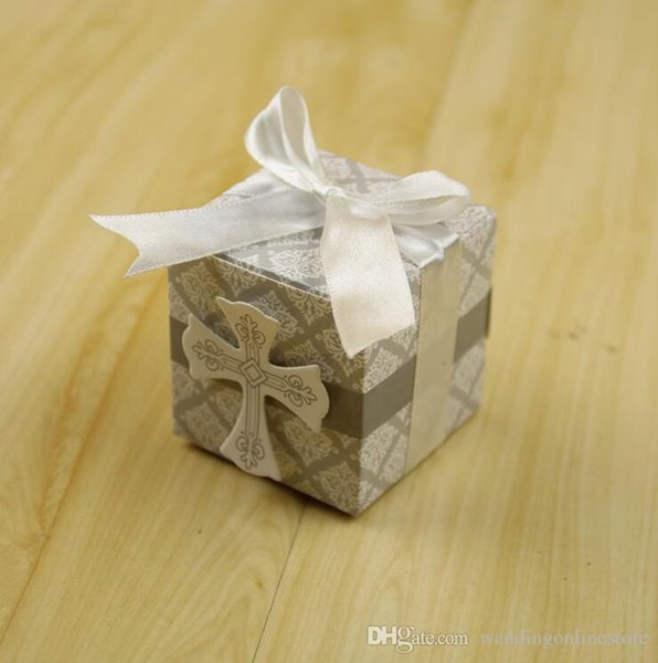Cross Wedding Favor Box Christmas Birthday Party Gift Boxes Candy
