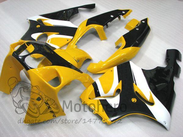 3Gifts Fairings For KAWASAKI NINJA ZX7R 1996 1997 1998 1999 2000 2001 2002 2003 YEAR ZX7R 636 96-03 motorcycle fairing yellow white black