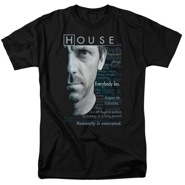 House M.D Houseisms Licenciado Adulto Camisa de Manga Comprida T shirt Mais Novo 2018 Moda Masculina