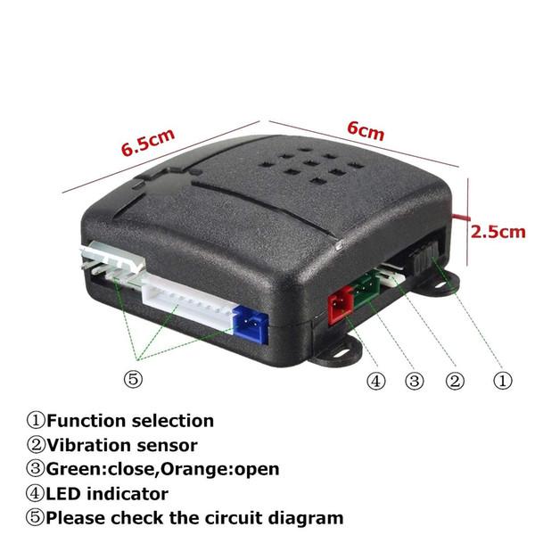 CarBest 232 3600W car alarm 3-Channel 1-Way Car Alarm Vehicle Security Keyless Entry System