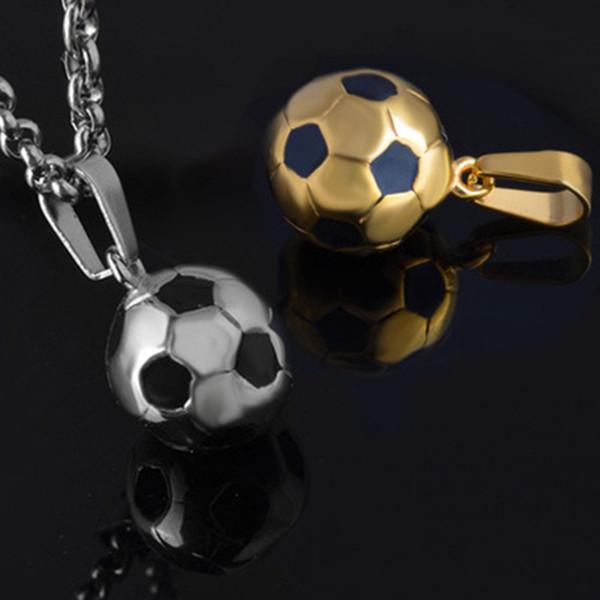 Futbol Kolye 2018 Yeni Futbol Hayranları için Rusya Dünya Kupası Hatıra Maç Altın Gümüş Renk 3D Spor Futbol Takı Erkekler Aksesuar