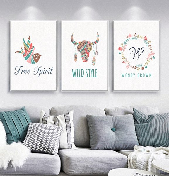 Simple Nordic Style Prints Picture Quote HD Posters Wall Free Cartoon Animal Canvas Painting Abstract Photo Pop Art Decoration