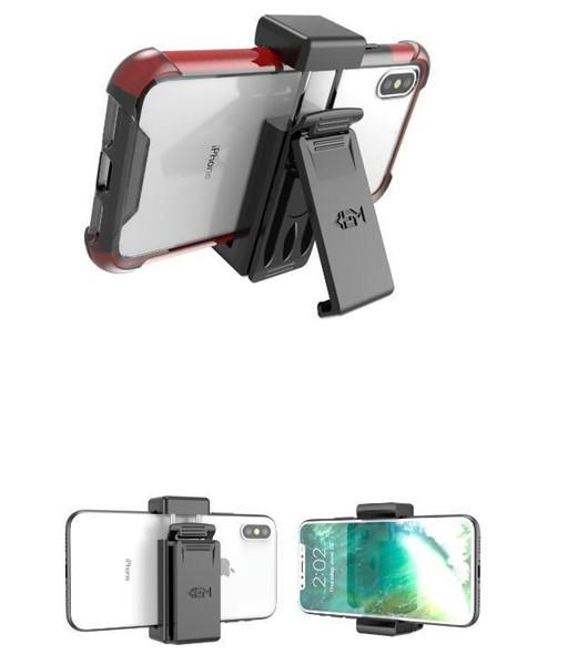 Custodia universale con clip da cintura per cellulare iPhone X 8 7 Samsung J7 Prime J8 A8 2018 Misura mobile sotto borsa OPP da 5,7 pollici