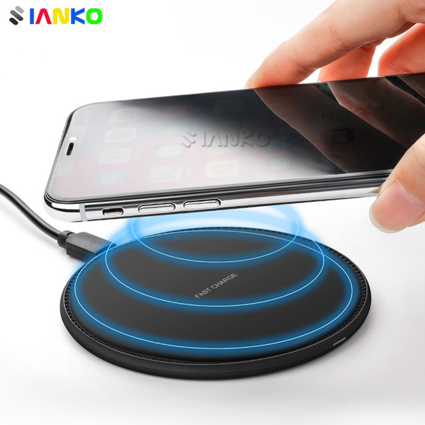 best selling FC18-1 Qi Fast Wireless Charger for iPhone X Xr-Xs-Xs Max 8 Plus Quick Wireless Charging Pad For Samsung S9-S8-S7 Note8-9 Ultra Thin Design