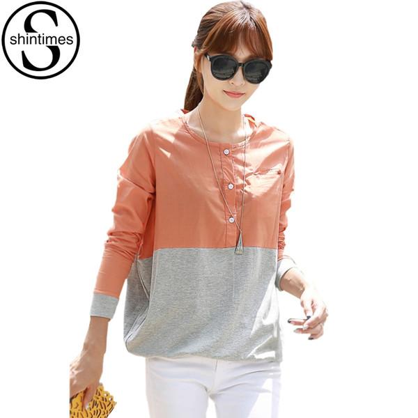 Chemise Femme Blusas Shirt Women Womens Tops And Blouses 2018 Korean Long Sleeve Vintage Blouse Femme Plus Size Woman Clothes