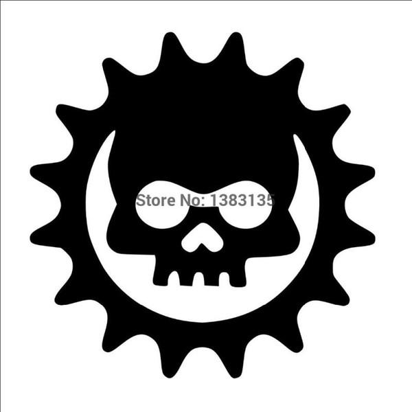 HotMeiNi Wholesale 20pcs/lot Fashion Gear Skull Car Sticker For Truck Window Bumper Auto SUV Door Laptop Kayak Vinyl Decal 8 Colors