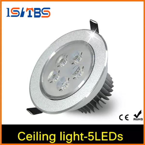 Venta al por mayor - 4Pcs 15W CREE LED lámpara de techo Downlight AC 85V - 265V con LED Driver empotrado impermeable luz del punto para la iluminación interior del hogar