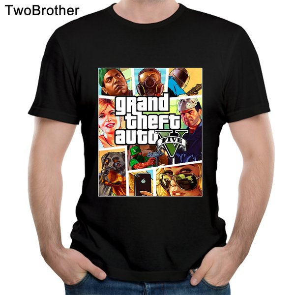 Gra 5 T Camisa Plus Size Grand Theft Auto Camiseta Agradável Camiset Verão 3d Pirnt Tees
