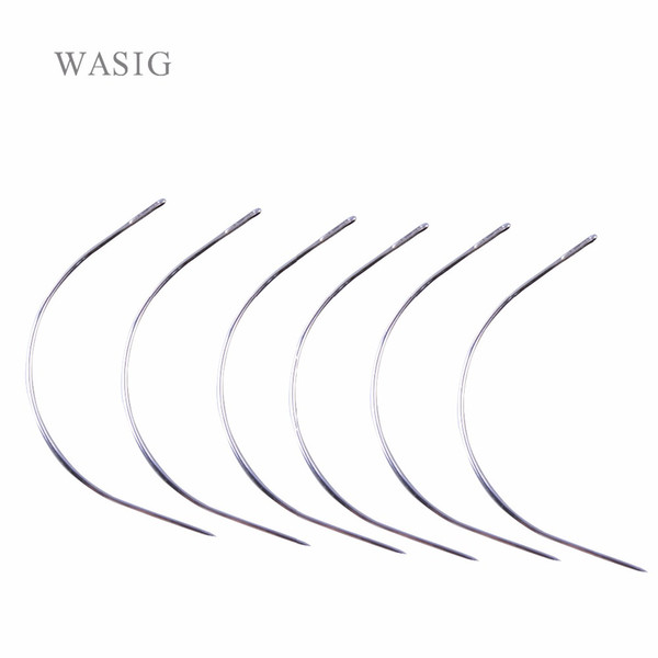 12pcs 9cm Long C TYPE Curved Needles Hair Weaving Thread/Sewing Needles For Hair Extension Tool Ordinary Small Packet