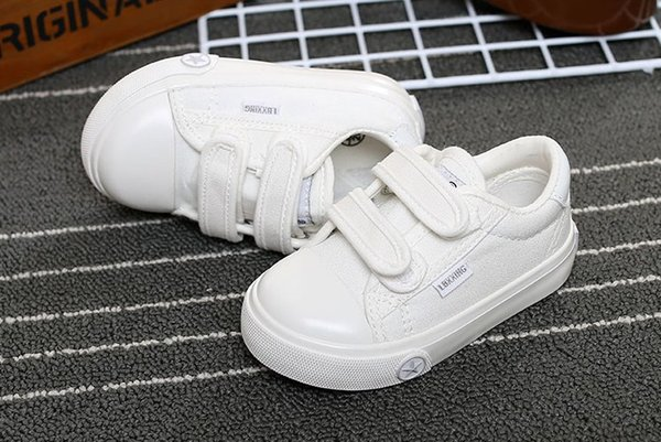 best selling Small star children shoes boys and girls size white shoes low to help solid color casual shoes with 7 types