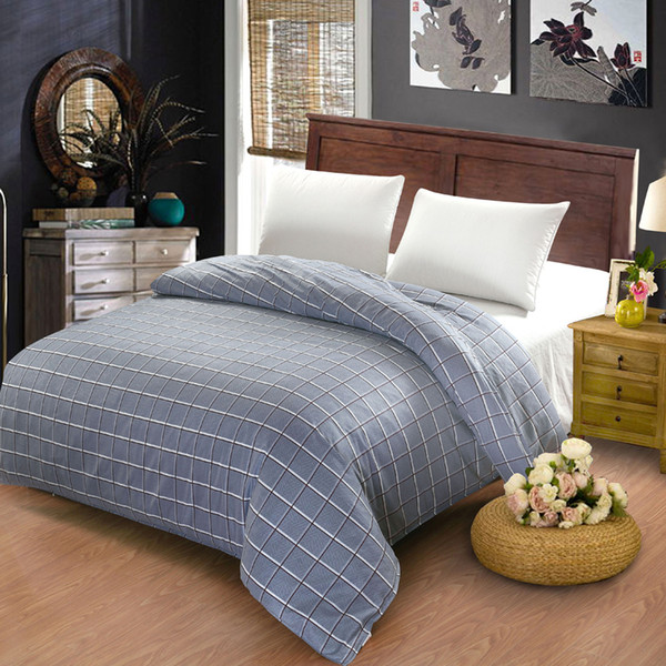 Four Season Fashion Duvet Cover Bedding Lattice Printing Pattern Simple And Elegant Full/ King/ Queen / Size Optional