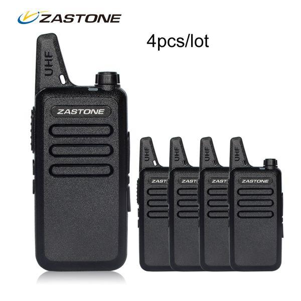 4pcs/lot Zastone X6 Portable walkie talkie UHF 400-470MHZ Walkie Talkie Kids Ham Radio Transceiver Mini Handheld Radio