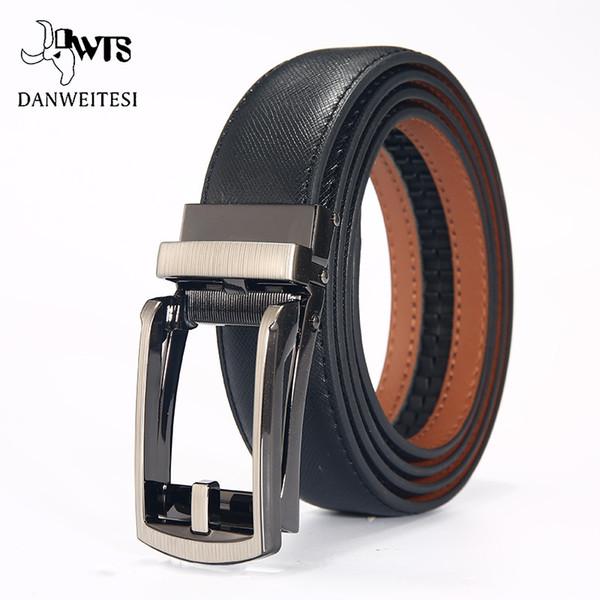 [DWTS]Fashion Men Automatic Buckle Leather luxury Belts Business Male Alloy buckle Belts for Men Ceinture Homme