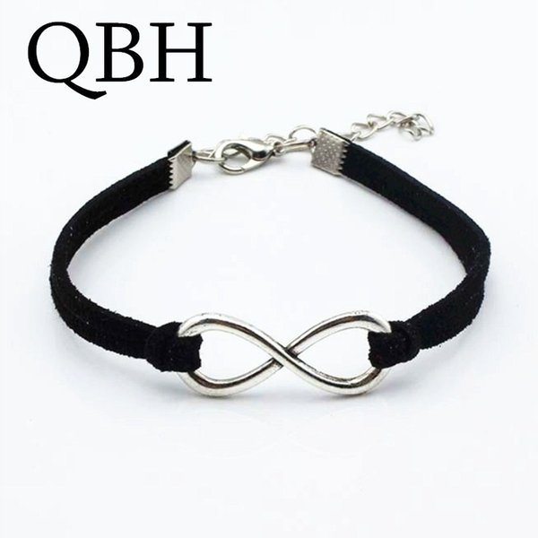 f82301625a68a 2019 L136 Hot Statement Silver Plated Bracelets Leather Infinity Luck 8  Bracelets Women Charm Bangle Jewelry Gifts Feminina Pulseras From Samtime,  ...