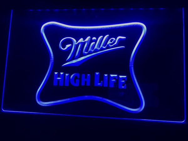 A077b- Miller High Life Beer Ad Bar Pub LED Neon Light Sign