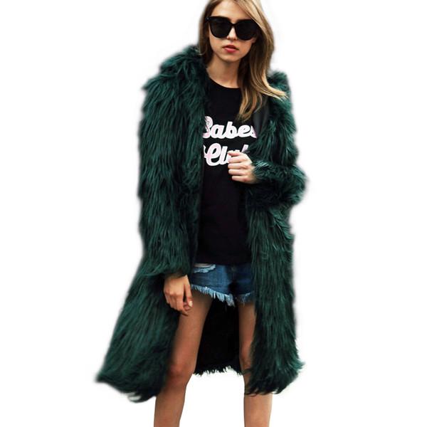 Luxury Winter Warm imitation fox fur Long Trench coats Chic fur Bomber Hoodie Faux fox fur Hoodie Jacket Long Hair Windbreaker with cap