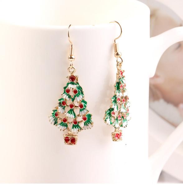 Boucles d'oreilles série européenne de Noël en gros Boucles d'oreilles béquille de Noël cadeaux de Noël cadeaux