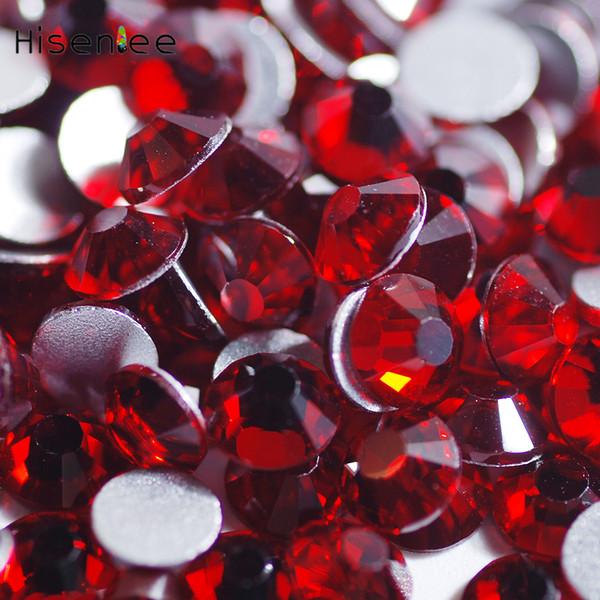 Brillant Rouge Gemstone Haute Qualité 144 PCS-72 PCS Verre Scintillant Cristal 3D Dos Plat Non Hotfix Nail Design Décoration Accessoire