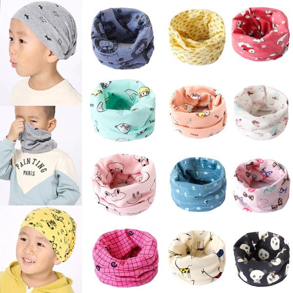 Hot New Magic Cute Cartoon Cotton Bandana Neck Gaiter Snood Headwear Tube Scarf Kids Baby Scarf 10pcs