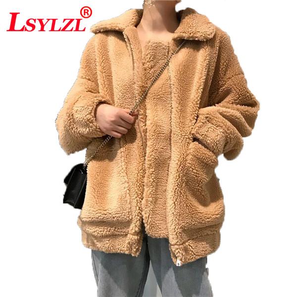 2019 Feminino Elegante Cardigan Tops Completos Sobretudos Plus Size Mulheres Misturas De Lã Casacos Longos Casacos de Lã Inverno Quente C317