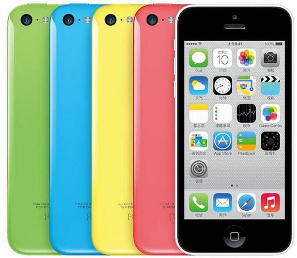 100% Original 4.0inch Apple iPhone 5C IOS8 4G LTE Unlocked Refurbished Smartphone Cell Phones DHL Free