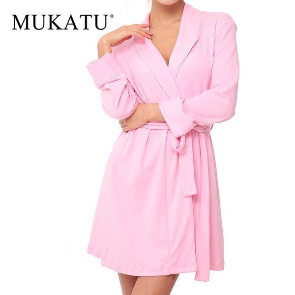 24b0357c64 2018 New Knitted Cotton Women Bathrobe Autumn Winter Elegant Sexy Robes  Sleepwear Female Brand Casual Home Kimono Dressing Gown