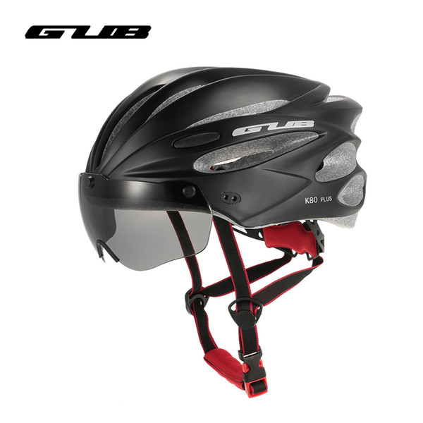 GUB Men Women Bike Helmets With 2Lens Outdoor Cycling 17 Vents Inter-Mold Caps Bicycle Motor Helmet+Glass Casco Ciclismo 58-62cm
