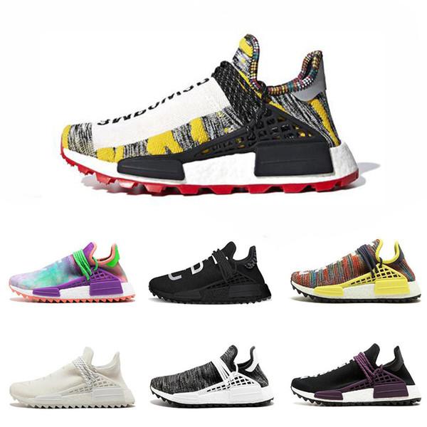 a7737bea7 Best discount Human Race Afro Hu Trial Core black Pharrell Williams men  running shoes Solar Pack