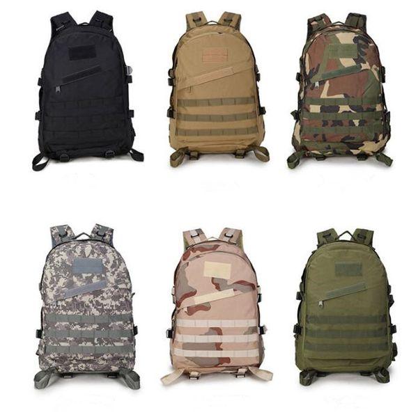 13 Colors 3D Outdoor Sport Tactical Climbing Mountaineering Backpack Camping Hiking Trekking Rucksack Travel Outdoor Bag CCA10426 30pcs