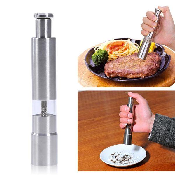 Best popular Stainless Steel Pepper Grinder Portable Manual Pepper Muller Seasoning Grinding Milling Machine Mini Cooking kitchen Tools