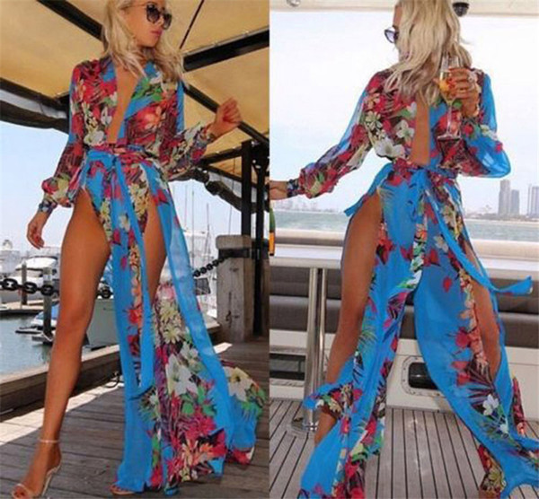 Sexy Womens Swimsuits Beach Cover up Dresses for Women Plus Size Swimwear Fat Swimming Wear Women Wholesale Irregular Chiffon Bathing Suit