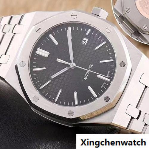 Lüks Kraliyet Kol Saatleri 15400ST Moda Klasik Safir Paslanmaz Çelik Kayış Otomatik Hareketi Erkekler Mens Watch Saatler