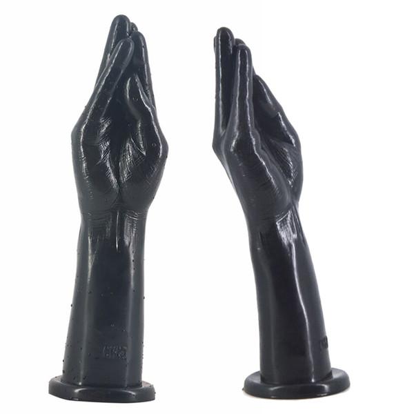 large dildo vagina stimulate butt stopper anus insert finger hand arm sex toys for women flirting big anal plug Adult sex shop Y18110305