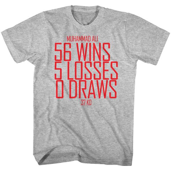 Muhammad Ali Tall T-Shirt Distressed Stats Red Text Heather Tee Tee Shirt Men Casual Short Sleeve Crewneck Cotton Big Size Men's T Shirts