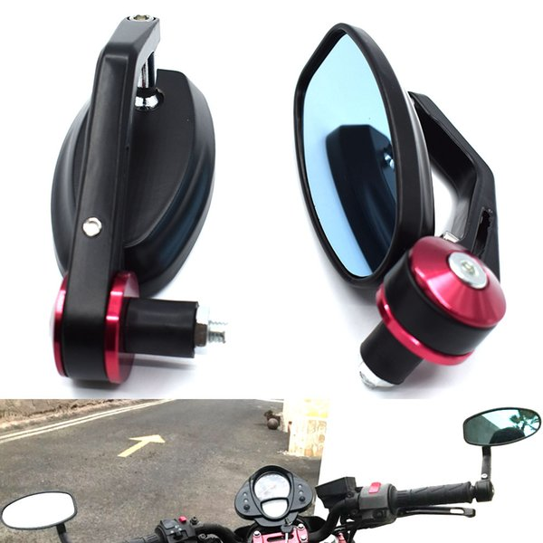 "For Motorcycle Black 7/8"" Round Bar End Rear Mirrors Moto Motorcycle Motorbike Scooters Rearview Mirror Side View Mirrors Cafe Racer"
