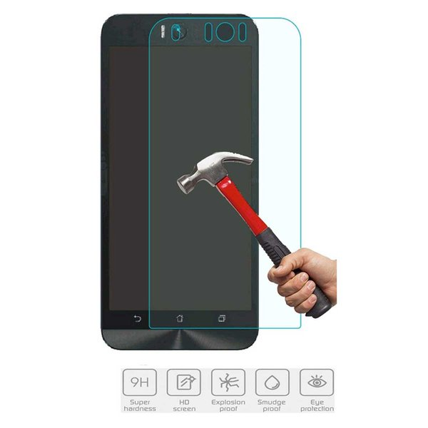 For Asus Zenfone Selfie ZD551KL Tempered Glass Screen Protectors HD-Clear Anti-Scratch Anti-Glare Anti-Fingerprint Film For Asus CellPhone