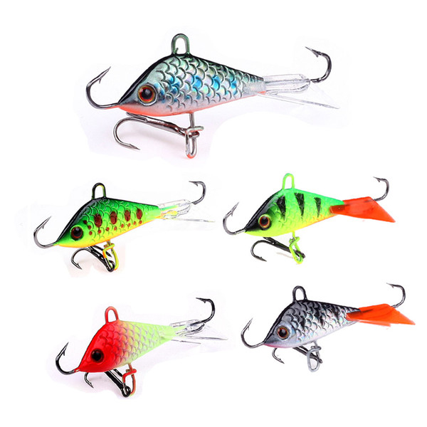 5Pcs/lot Artificial Bait lure Balancer for Carp Walleye Pike Perch 5cm 7.5g Jigging Lure Ice Fishing Jig Head Winter Ice bait