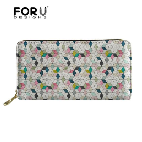 FORUDESIGNS Adventure Awaits Pattern Wallets Ladies Long Pu Leather Money Bags Female Purse for Coins ID Card Holder Phone Bags