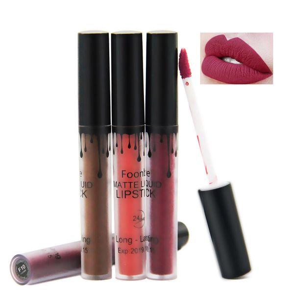 FOONBE Lips Makeup 1 Pcs Matte Lip Gloss Maquiagem Brand Matt Liquid Lipstick Women Make up Cosmetics Mate Batom Beauty Lipgloss