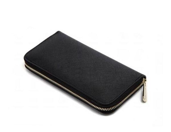 Hot Factory Wholesal! wholesale 2018 famous brand fashion single zipper cheap luxury designer women pu leather wallet lady ladies long purse
