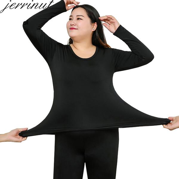Jerrinut Thermal Underwear Women Plus Size 6XL Tuta da lavoro invernale Long Johns Women For Winter Thermal Underwear Female