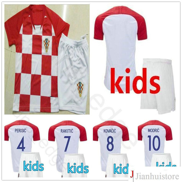 81e00edd9c6 Kids Soccer Jersey MODRIC PERISIC RAKITIC MANDZUKIC SRNA KOVACIC Customize  Men Women Youth 2018 World Cup