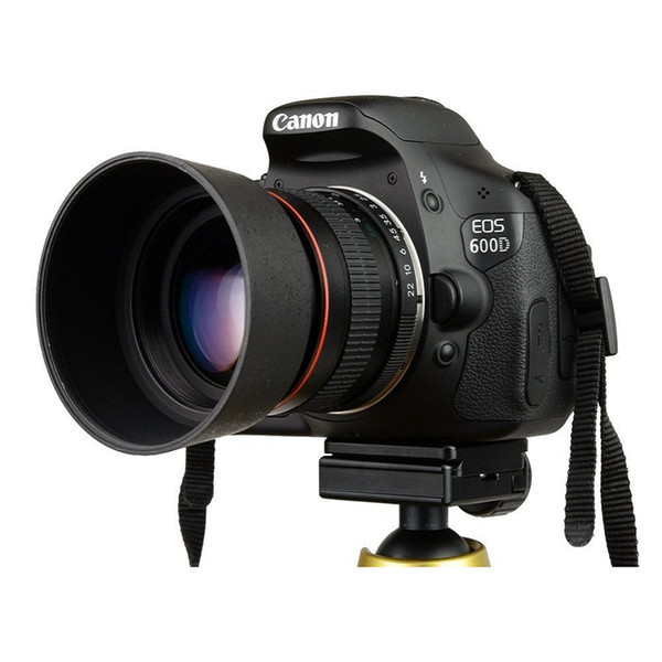 best selling Lightdow 85mm F1.8-F22 Manual Focus Portrait Lens Camera Lens for Canon EOS 550D 600D 700D 77D 5D 6D 7D 60D DSLR Cameras