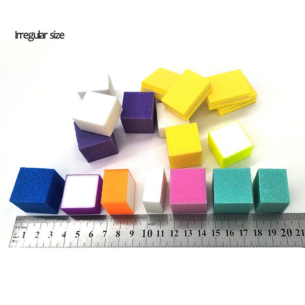 Mini Nail Colorful Sanding Sponge Grinding Polishing Irregular Files Salon DIY Tool Buffer Block Nails Tips Tools Washab Mini Nail Files