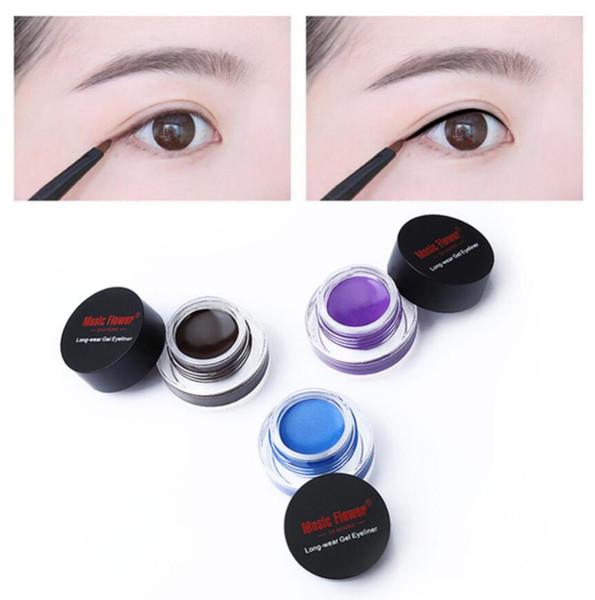 Music Flower Brand 5 Colors Black Eyeliner Gel Wateproof Eyes Makeup Matte Eye Liner Cream Long Lasting Eyeliner Gel Cosmetics