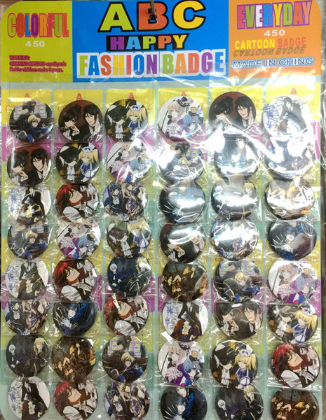 Black Butler 4.5 CM lot set PIN BACK BADGES BUTTONS NEW FOR PARTY CLOTH BAG GIFT ANIME CARTOON GAME MOVIE COLLECTION